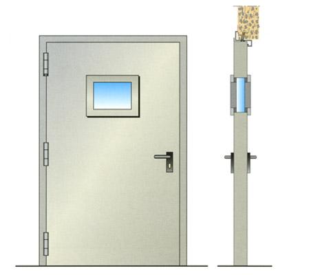 Porte tagliafuoco vetrate tagliafuoco maniglioni for Porta rei 120 dwg