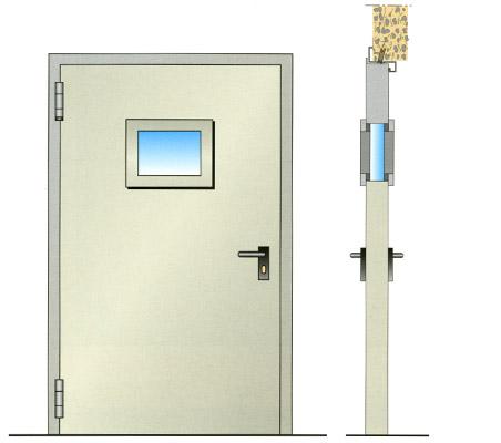 Porte tagliafuoco vetrate tagliafuoco maniglioni for Porte rei 60 prezzo